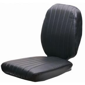 Housse de siège 2 pièces tissu noir GS12